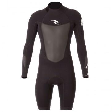 Rip Curl Dawn Patrol L/S Back Zip Spring Wetsuit - Black