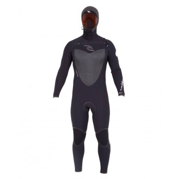 Rip Curl Flash Bomb 6/4 Hooded Chest Zip Wetsuit - Front Picture