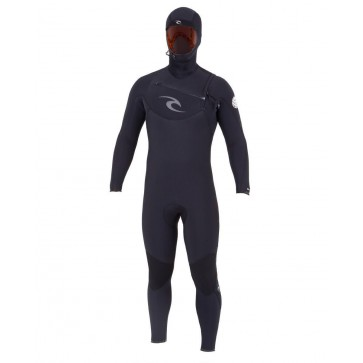 Rip Curl E-Bomb 4.5/3.5 Hooded Chest Zip Wetsuit - Front