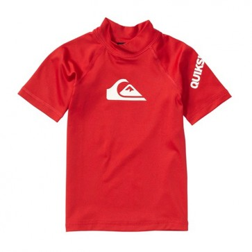 Quiksilver Wetsuits Toddler All Time Short Sleeve Rash Guard - Red