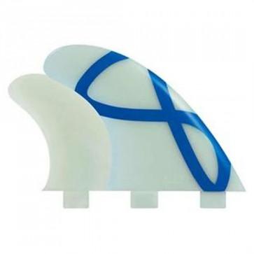 FCS Fins - M5 GF Quad GX - Glass/Blue