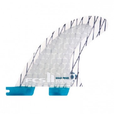 FCS II Fins - Performer PC Quad Rears Large - Clear
