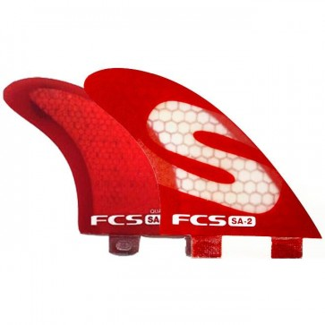 FCS Fins - SA-2 PC Quad - Red