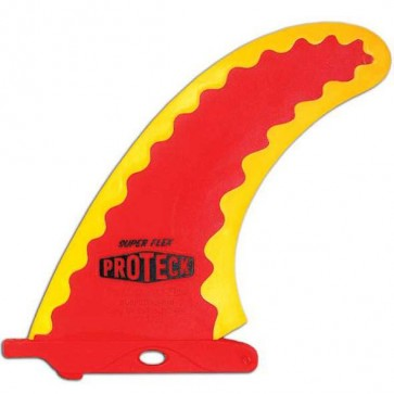 Surfco Hawaii - 9'' Super Flex Longboard Fin - Red/Yellow