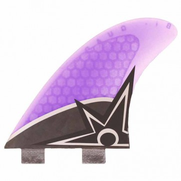 Kinetik Racing Fins - Bruce Irons Quad Carbon Ultra FCS - Neon Purple