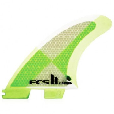 FCS II Fins - Carver PC Medium - Lime/Clear Hex