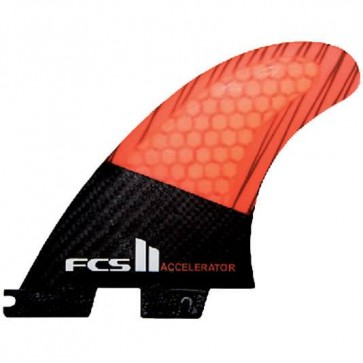 FCS II Fins - Accelerator PC Carbon Medium - Black/Neon Orange Hex