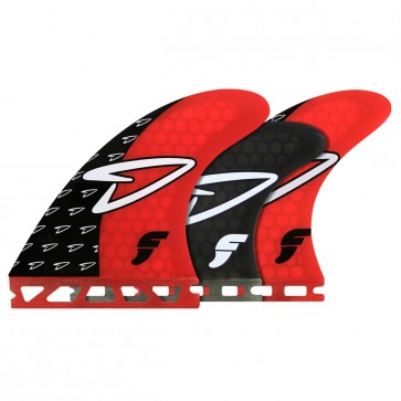 Futures Fins - Roberts Tri-Quad - Red/Smoke