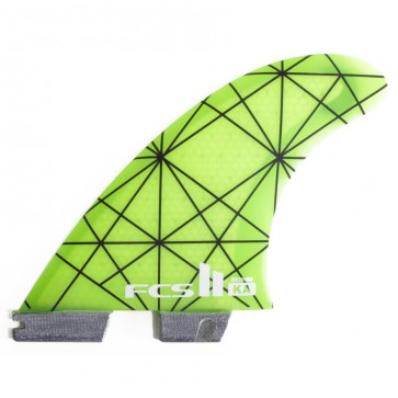 FCS II Fins - KA PC Small - Neon Green/Pink