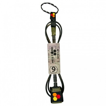 Channel Islands Hex Cord Longboard Leash - 9' - Army