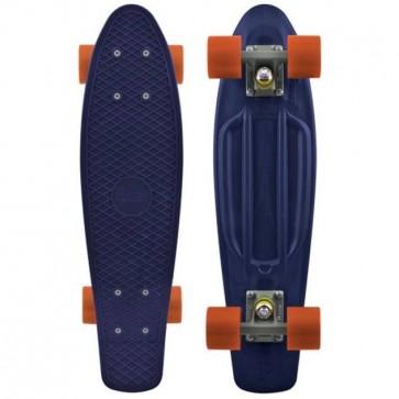 "Penny Skateboards - Organic Penny 22"" Navy/Grey/Orange - Complete"