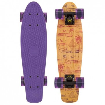 "Penny Skateboards - Holiday Hawaiian Penny 22"" Skateboard Complete - Purple/Black/Purple"