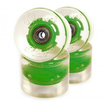 Sunset Skateboards - 59mm Flare Cruiser LED Wheels - Green