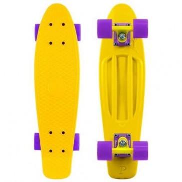 "Penny Skateboards - Original 22"" Yellow Yellow Purple Complete Skateboard"