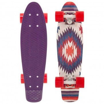 "Penny Skateboards - Holiday Aztec Penny 22"" Skateboard Complete - Purple/White/Red"