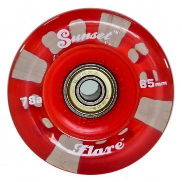 Sunset Skateboards - 65mm Flare Longboard LED Wheels - Red