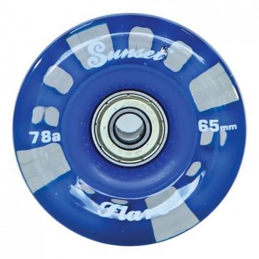 Sunset Skateboards - 65mm Flare Longboard LED Wheels - Blue