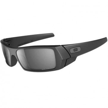 Oakley Gascan Sunglasses - Matte Black/Black Iridium Polarized