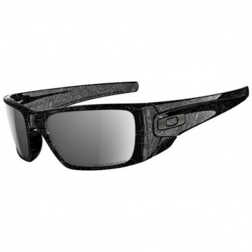 Oakley Fuel Cell Sunglasses - Polished Black/Grey History Text/Black Iridium Polarized