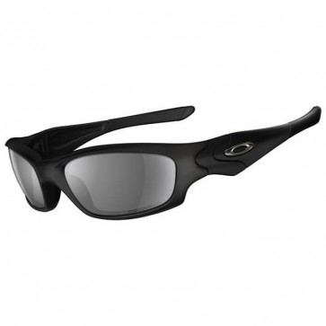Oakley Straight Jacket Sunglasses - Matte Black/Grey Polarized