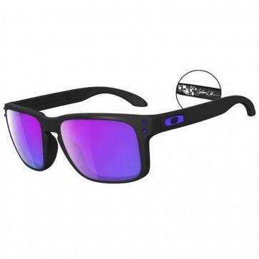 Oakley Holbrook Julian Wilson Sunglasses - Matte Black/Violet Iridium