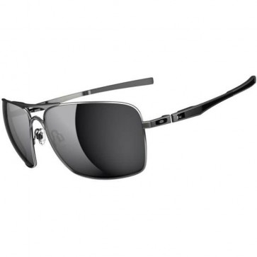 Oakley Plaintiff Squared Sunglasses - Lead/Black Iridium