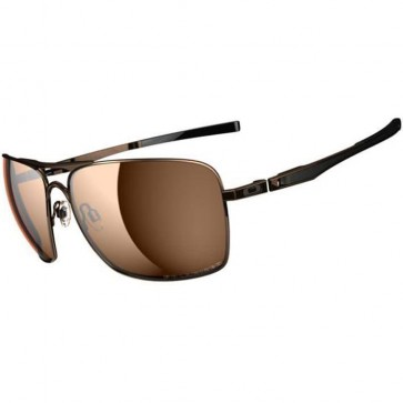 Oakley Plaintiff Squared Polarized Sunglasses - Brown Chrome/Bronze