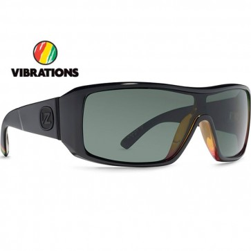 Von Zipper Comsat Vibrations Sunglasses - Black Gloss Rasta Fade/Grey