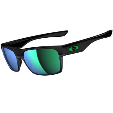Oakley Twoface Sunglasses - Polished Black/Jade Iridium