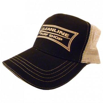 Cleanline Longboard Mesh Hat - Black/Khaki