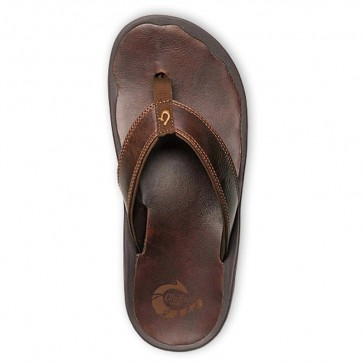 Olukai 'Ohana Leather Sandals - Dark Java