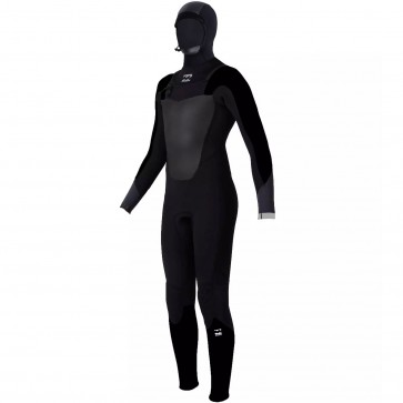 Billabong Youth Absolute Comp 5/4 Hooded Wetsuit - Black