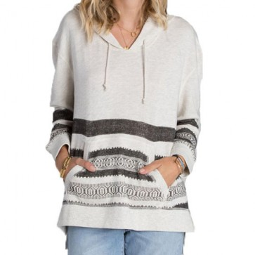 Billabong Women's Nothing Compares Pullover Hoodie - Ice Athletic Grey