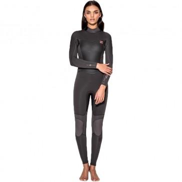 Billabong Women's Synergy 3/2 Back Zip Wetsuit - Off Black
