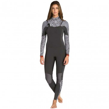Billabong Women's Salty Dayz 4/3 Chest Zip Wetsuit - Geo Diamond