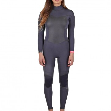 Billabong Women's Synergy 4/3 Back Zip Wetsuit - Black Sands