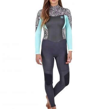 Billabong Women's Synergy 3/2 Back Zip Wetsuit - Geo Diamond
