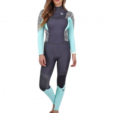 Billabong Women's Synergy 3/2 Chest Zip Wetsuit - Geo Diamond