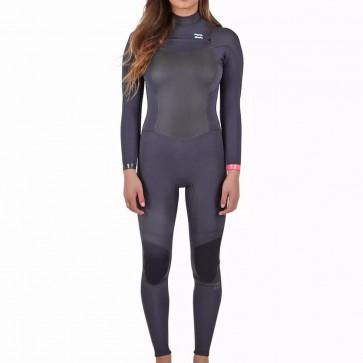 Billabong Women's Synergy 4/3 Chest Zip Wetsuit - Black