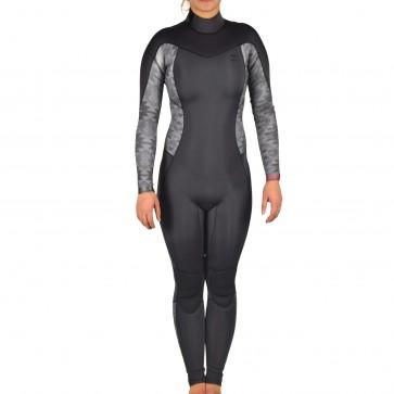 Billabong Women's Synergy 3/2 Back Zip Wetsuit - Black Geo