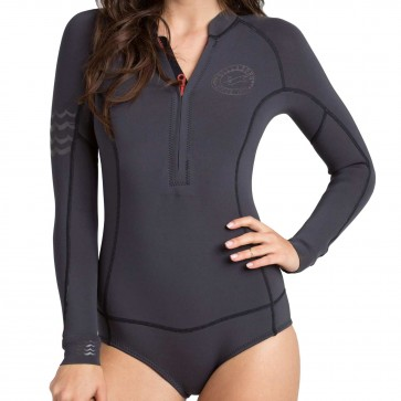 Billabong Women's Salty Dayz Long Sleeve Spring Wetsuit  - Black Sands