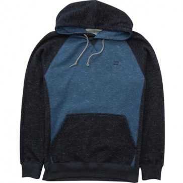 Billabong Balance Pullover Fleece Hoodie - Dark Blue Heather