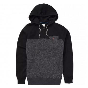 Billabong Balance Half Zip Pullover Hoodie - Black Heather