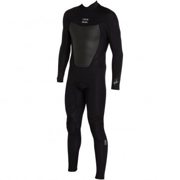 Billabong Foil 3/2 Flatlock Back Zip Wetsuit - Black