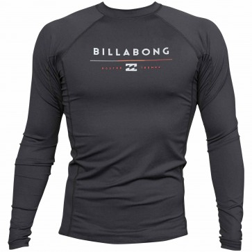 Billabong Wetsuits All Day Long Sleeve Rash Guard - Black
