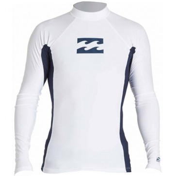 Billabong Wetsuits All Day Wave Performance Long Sleeve Rash Guard - White