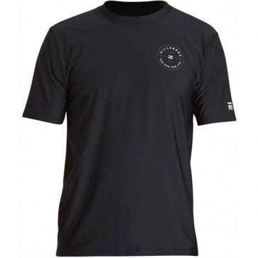 Billabong Wetsuits Rotor Short Sleeve Rash Guard - Black