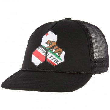 Channel Islands Cali Hex Trucker Hat - Black