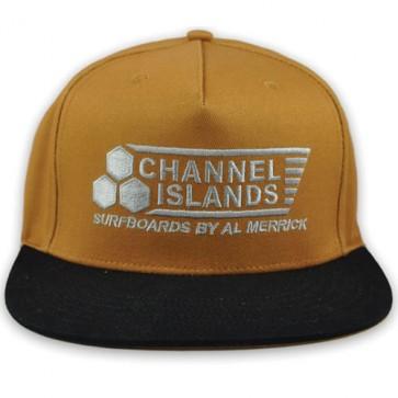 Channel Islands Black Flag Snapback Hat - Khaki