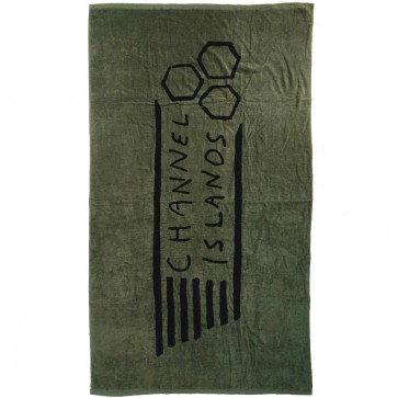 Channel Islands Flag Beach Towel - Military Green